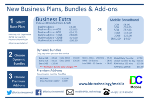iDC Mobile Tariff Card